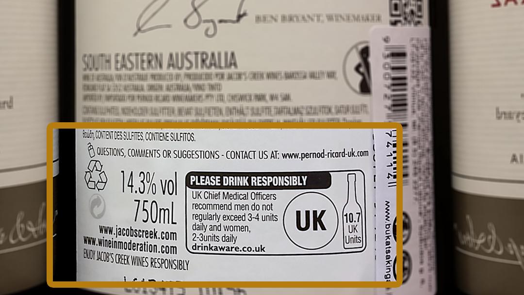 Standartinis alkoholio vientas (vyno etiketėje)